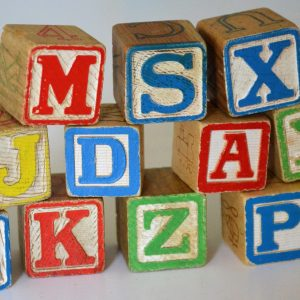 letter block toy